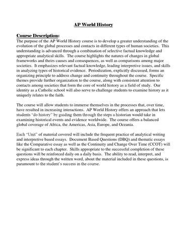 2004 ap us history dbq thesis
