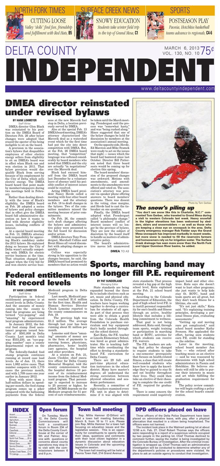Delta County Independent, March 6, 2013 by Delta County Independent ...