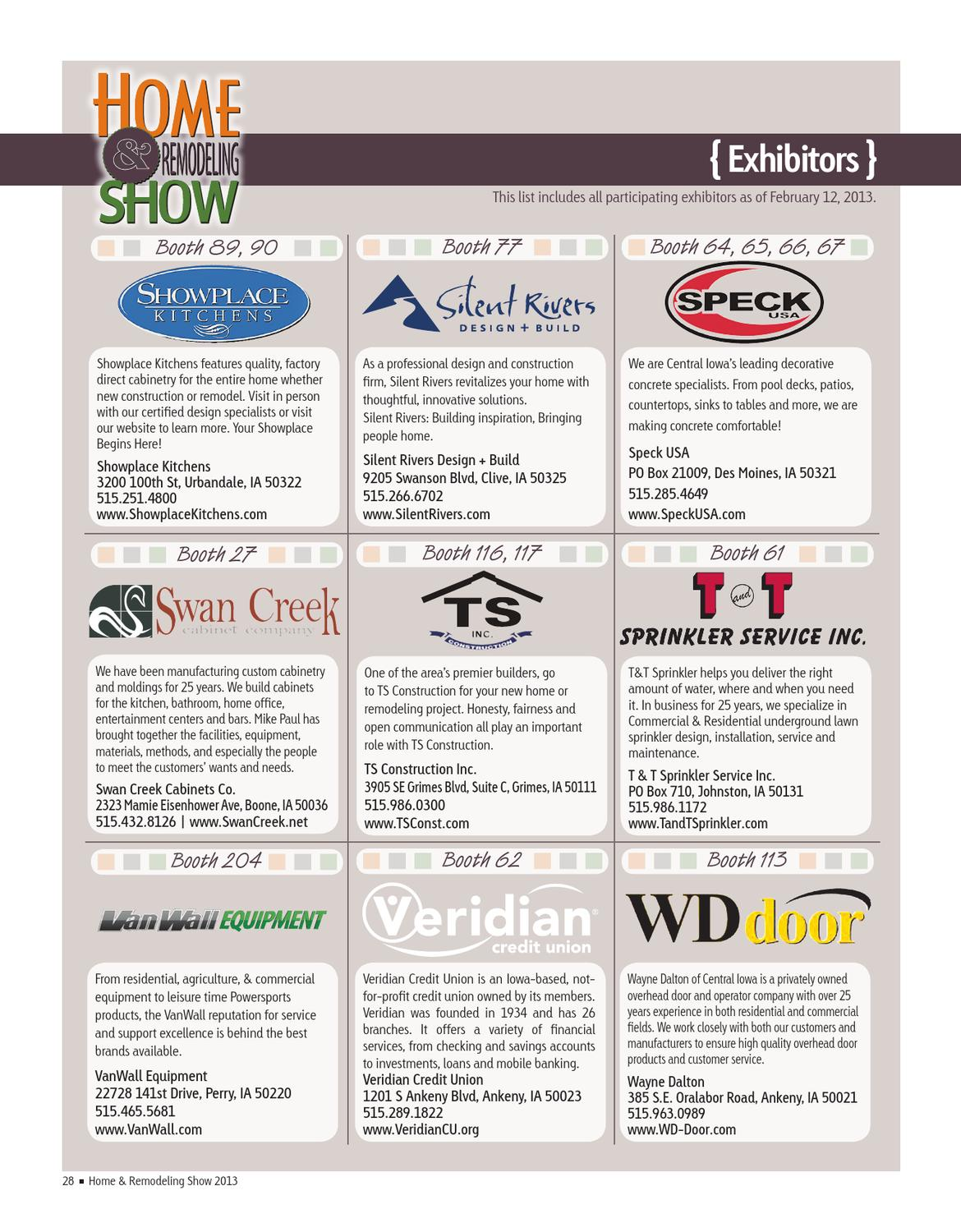 2013 Hba Home And Remodeling Show Magazine By Des Moines Register