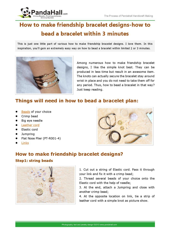 How To Make Friendship Bracelet Designs How To Bead A Bracelet