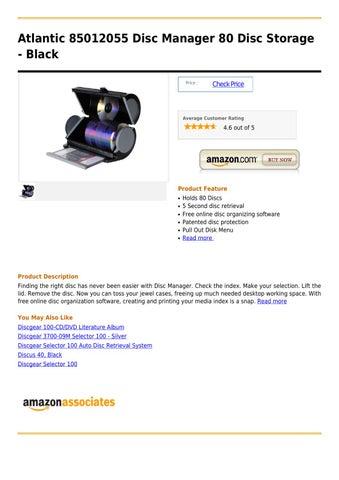 Atlantic 85012055 Disc Manager 80 Disc Storage   Black Price :