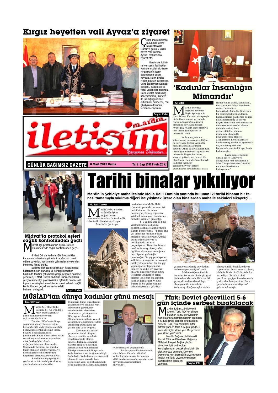 8 Mart 2013 Cuma Gazete Sayfalari By Mardin Iletisim Gazetesi Issuu