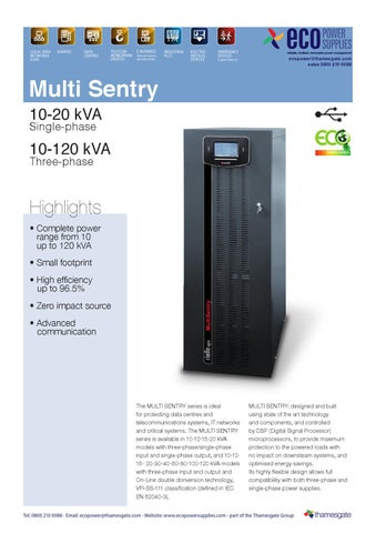 Riello Multi Sentry UPS by ecopower supplies - issuu