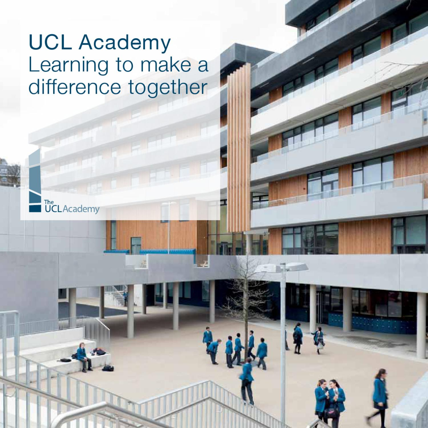UCL Academy: Learning To Make A Difference Together By