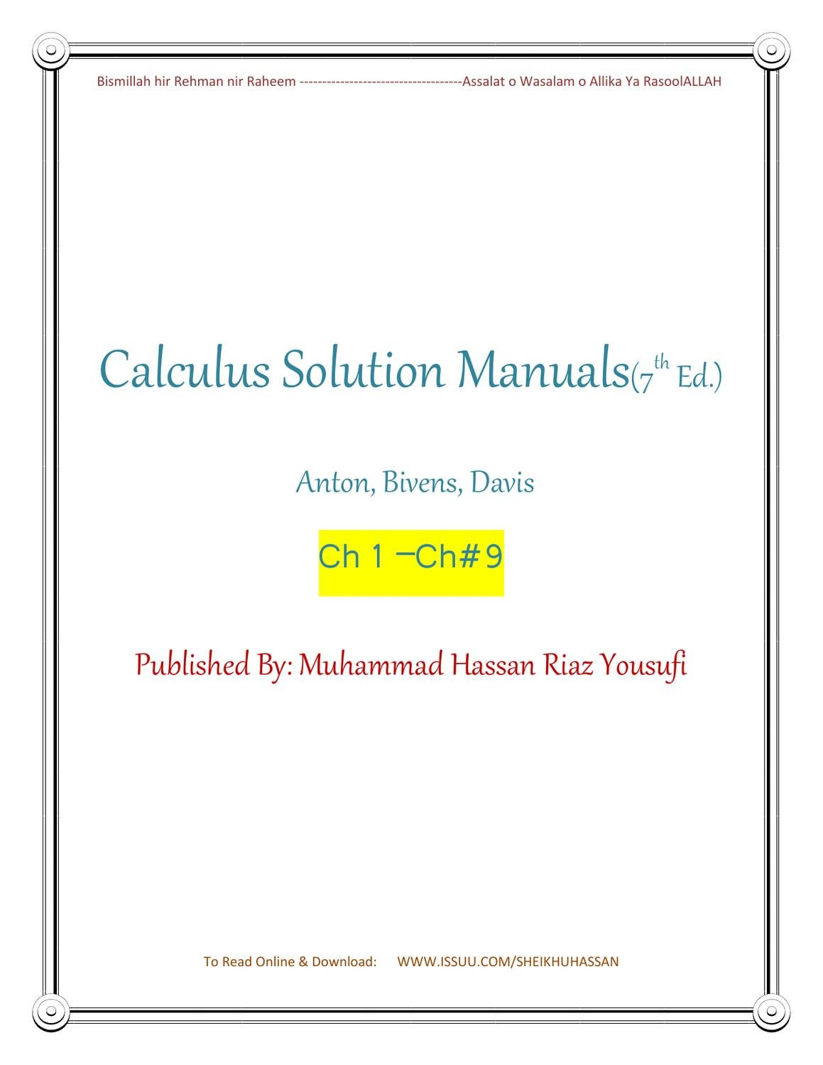 solution calculus by howard anton 7th ed part 1 by ali ahmad issuu rh issuu com calculus 7th edition howard anton solution manual howard anton calculus 7th edition solution manual part 2