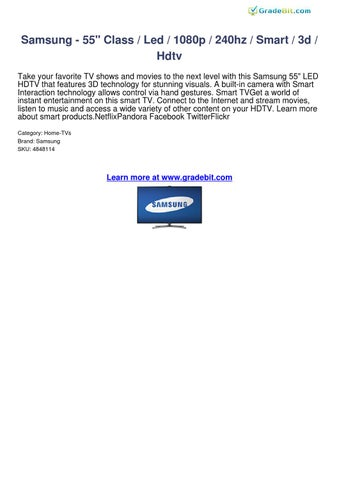 samsung 55 led 1080p 240hz smart 3d hdtv reviews