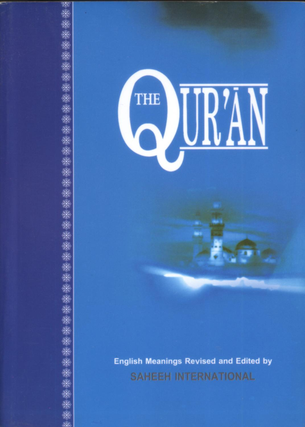 The Qur'an English Meanings Revised and Edited by SAHEEH