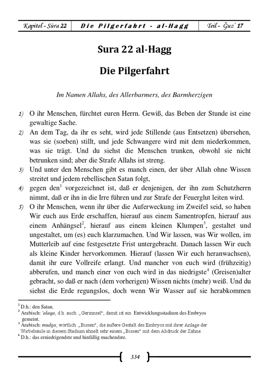 überseteung Der Bedeutungen Des Edlen Qurans In Die Deutsche