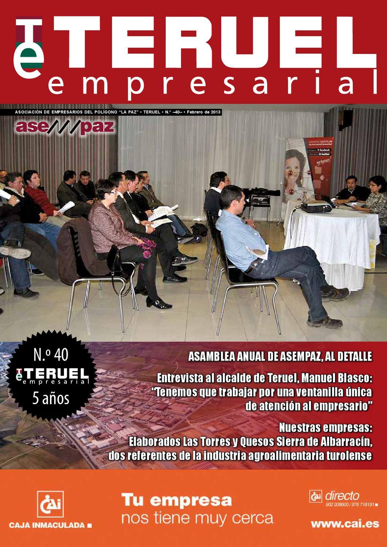 Teruel Empresarial N 40 Marzo 2013 By Asempaz Asoc De  # Muebles Jover Teruel