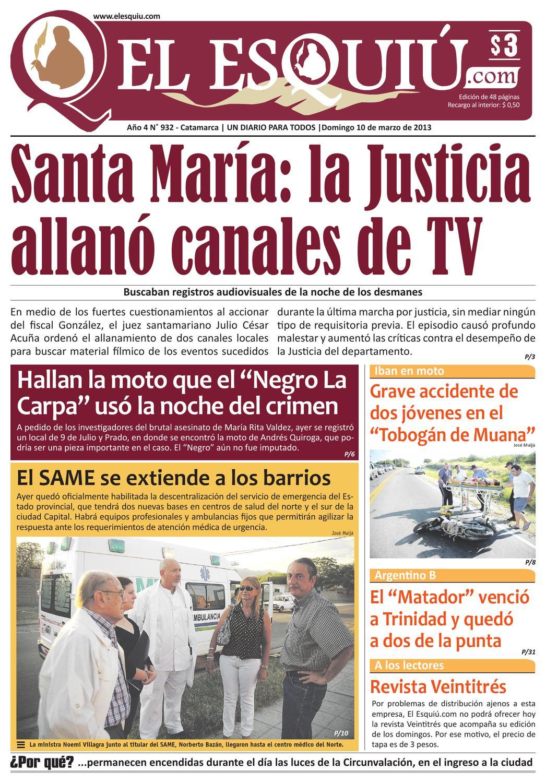 El Esquiu Com Domingo 10 De Marzo De 2013 By Editorial El Esqui  # Muebles Digiano