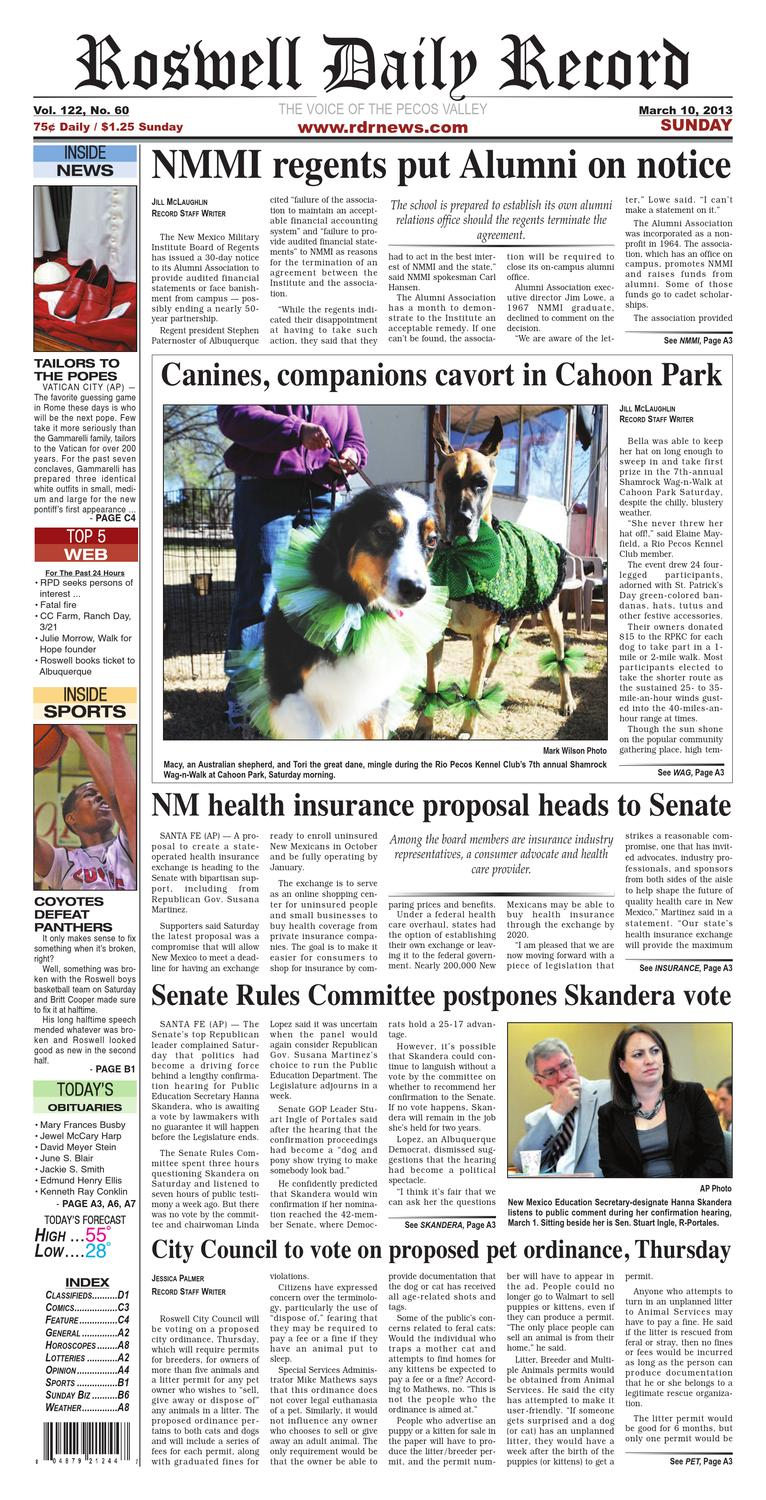 03-10-13 PAPER by Roswell Daily Record - issuu on