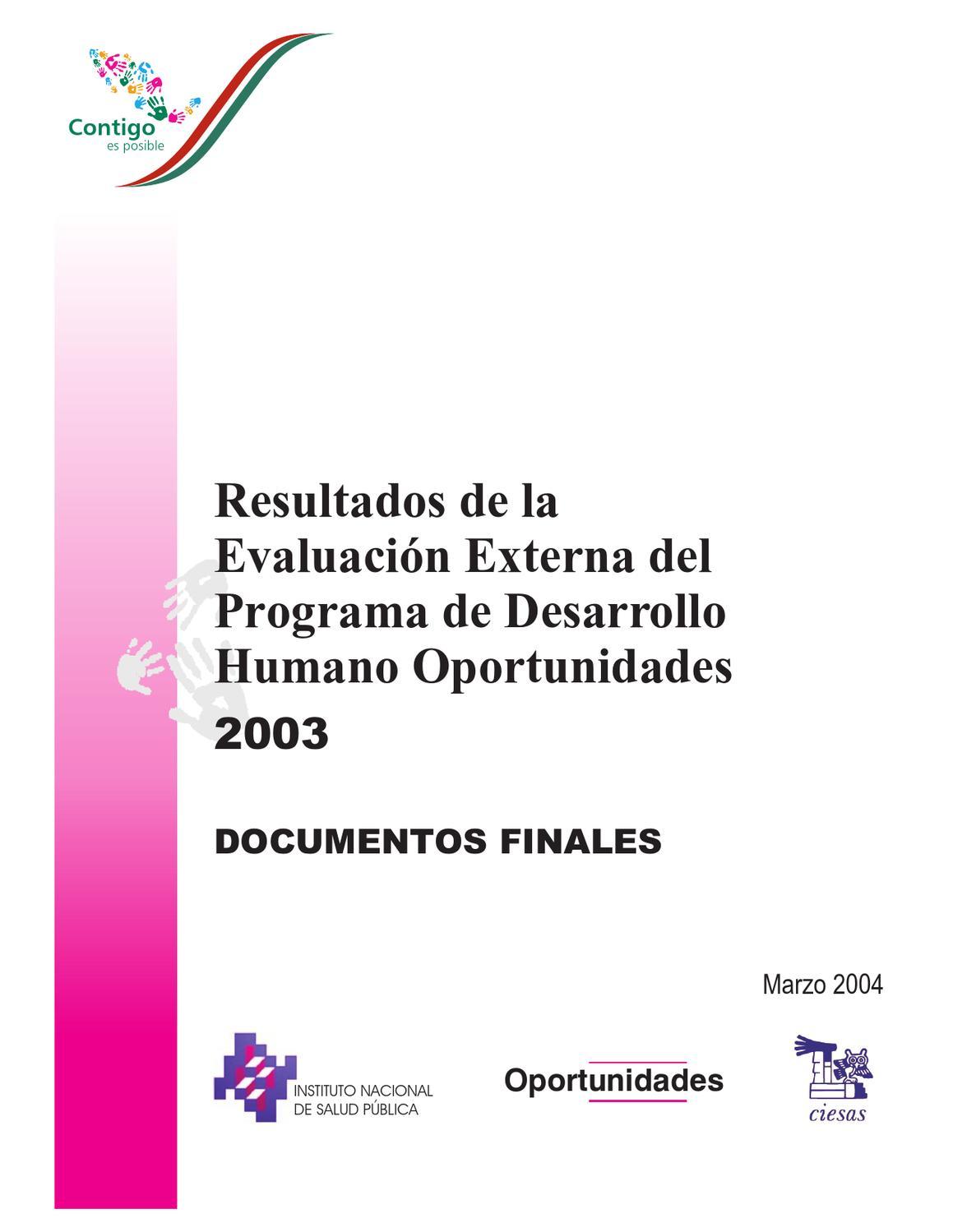 resultados de la evaluación externa del programa de desarrollo ...