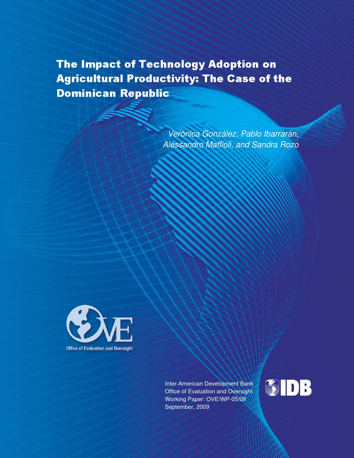 the impact of technology adoption on agricultural