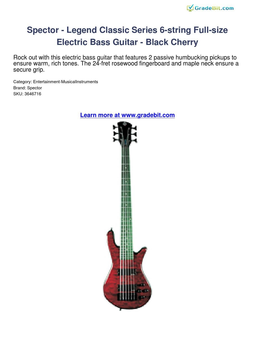 spector legend classic series 6 string full size electric bass guitar black cherry review by. Black Bedroom Furniture Sets. Home Design Ideas
