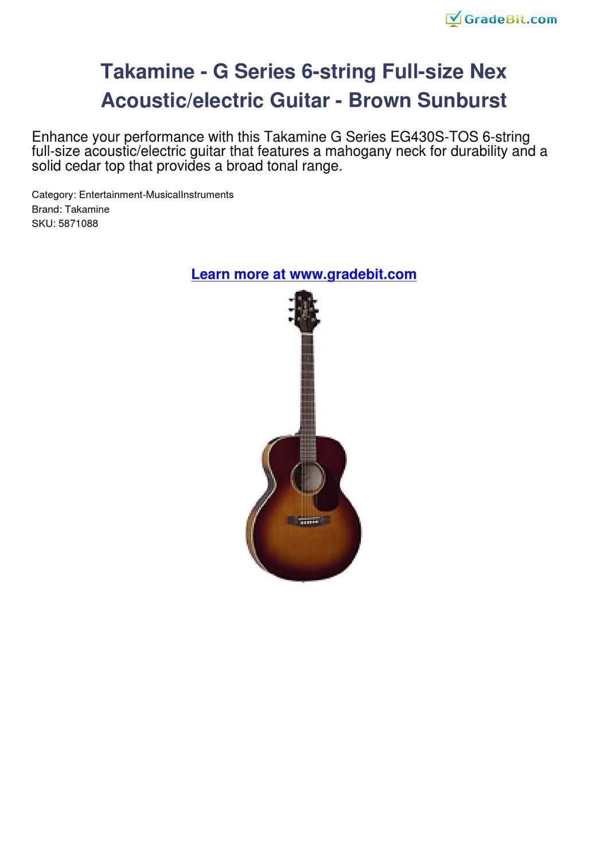 takamine g series 6 string full size nex acousticelectric guitar brown sunburst review by. Black Bedroom Furniture Sets. Home Design Ideas