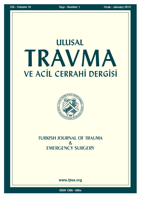 Travma 2013 1 By Karepublishing Issuu