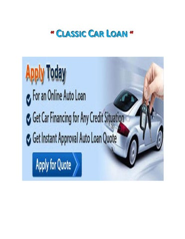 Classic Car Auto Loans By Tony Webb Issuu - Classic car financing