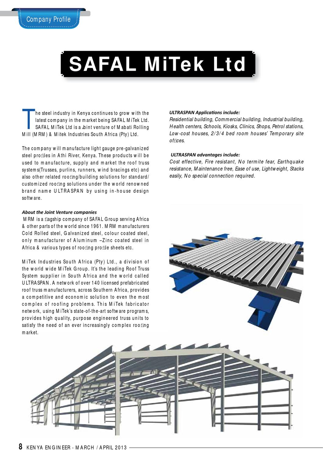 Kenya Engineer Magazine March April 2013 By Kenya Engineer Issuu