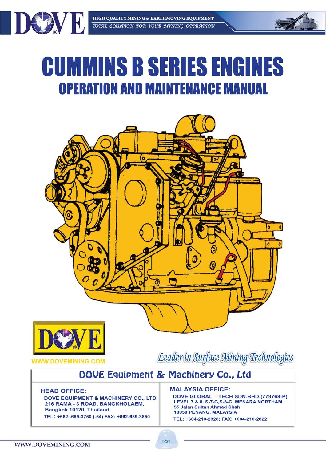 Cummins B Series Engines By Ant Dove Issuu Stamford Generator Wiring Diagram For Model Mp 125