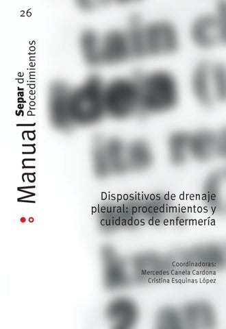 Manual 26. Dispositivos de drenaje pleural: procedimientos y ...