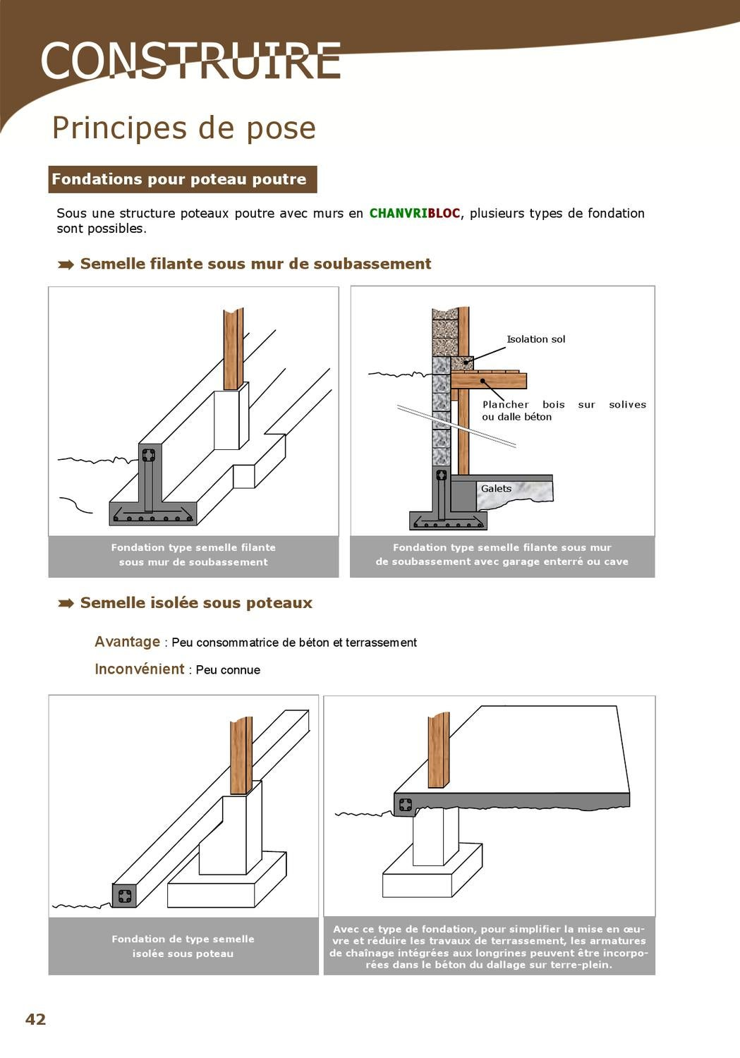 Construire en blocs de chanvre by chanvribloc issuu - Difference entre dalle et dallage ...