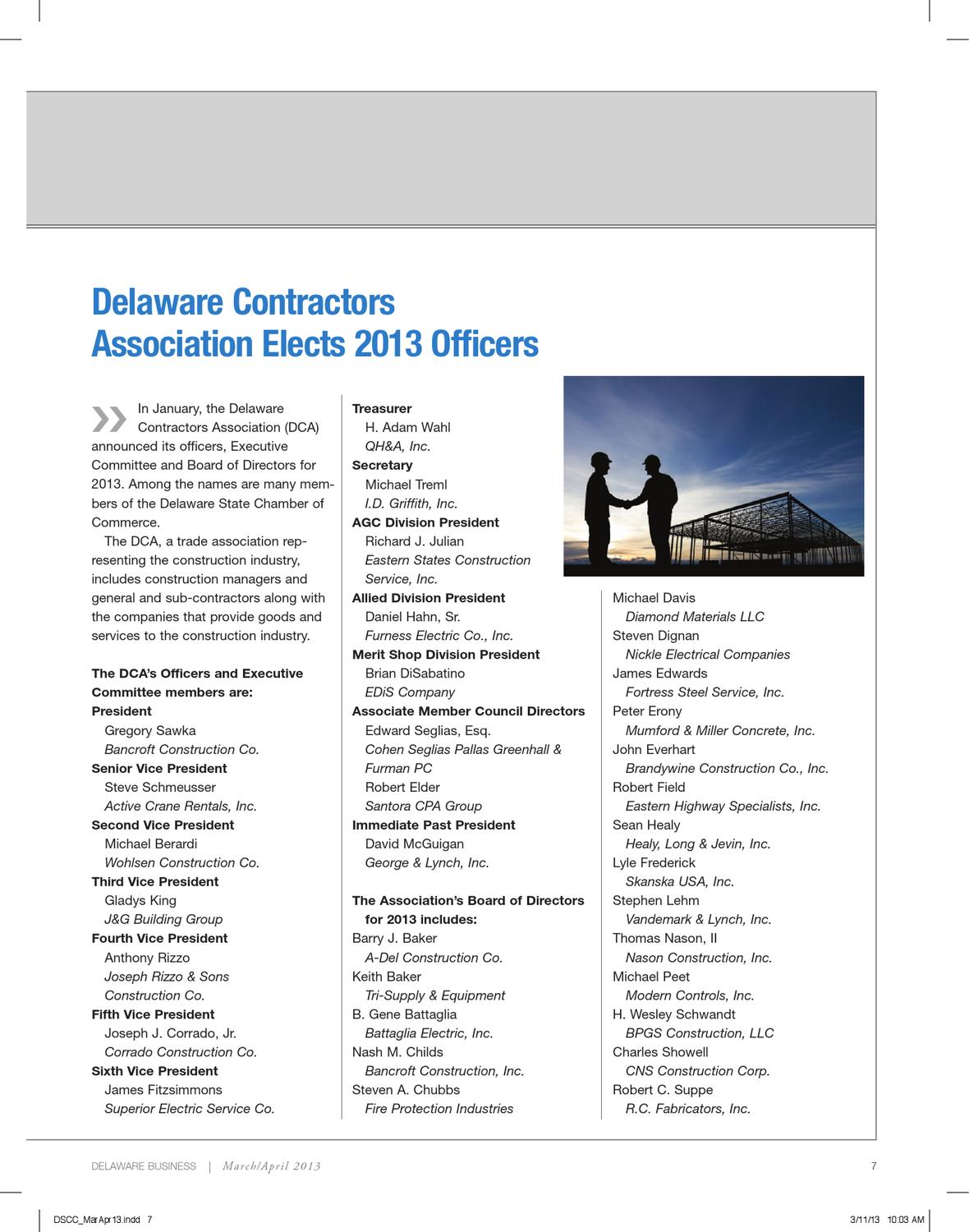 Delaware Business - March/April 2013 by Delaware State Chamber of