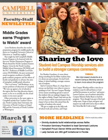 eb6572cebb Campbell Newsletter for 031113 by Campbell University - issuu