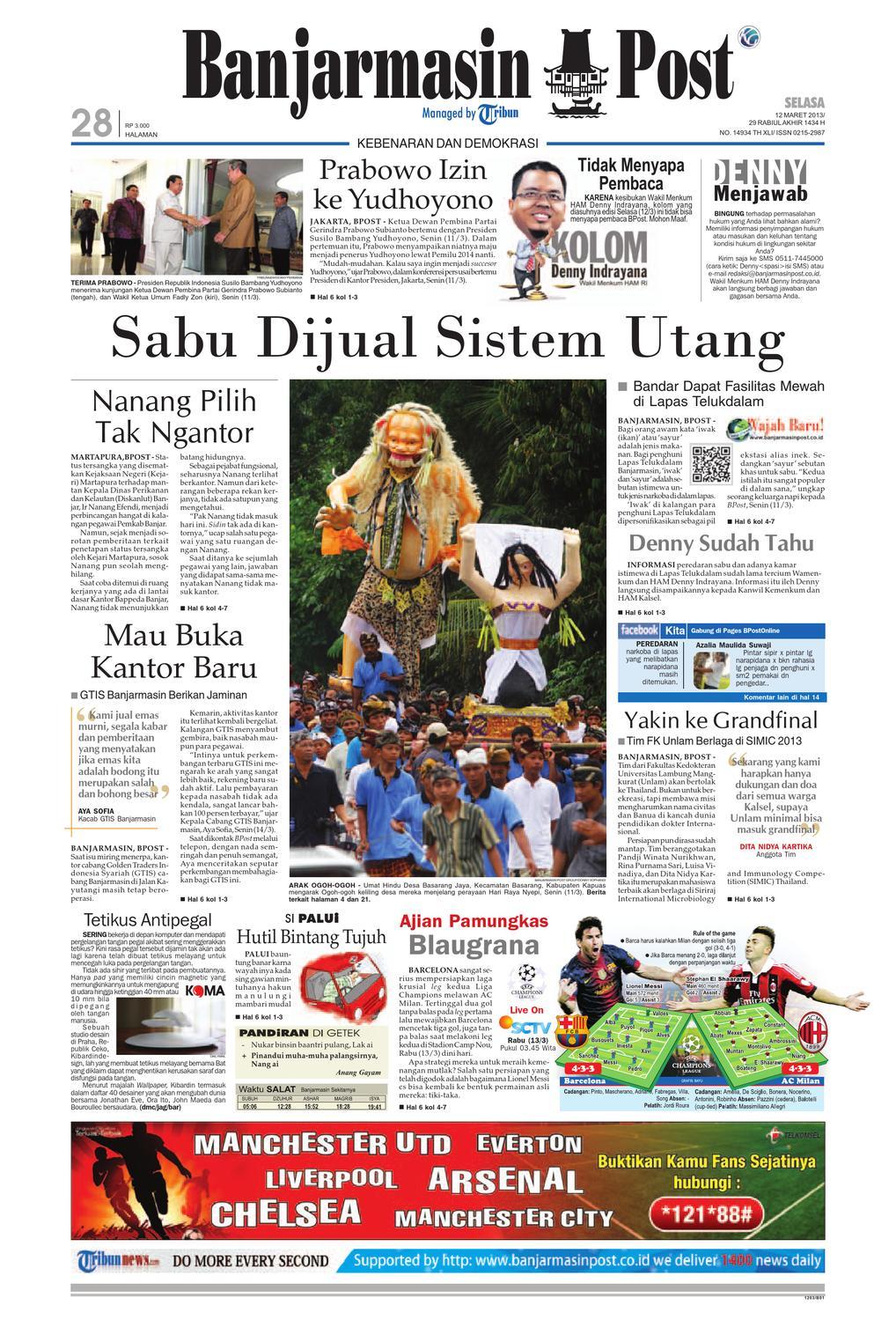 Banjarmasin post edisi selasa 12 maret 2013 by banjarmasin post issuu
