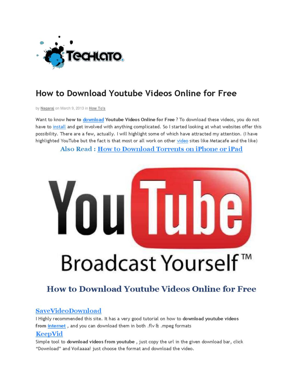 How to download youtube videos online for free by naga raju issuu ccuart Images