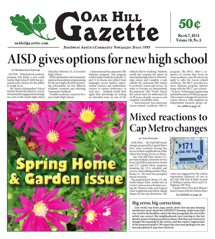March 7th by Oak Hill Gazette - issuu