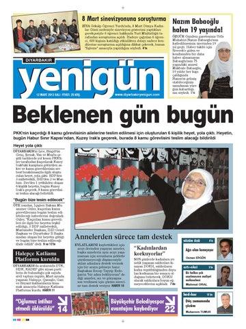 Diyarbakir Yenigun Gazetesi 12 Mart 2013 By Osman Ergun Issuu
