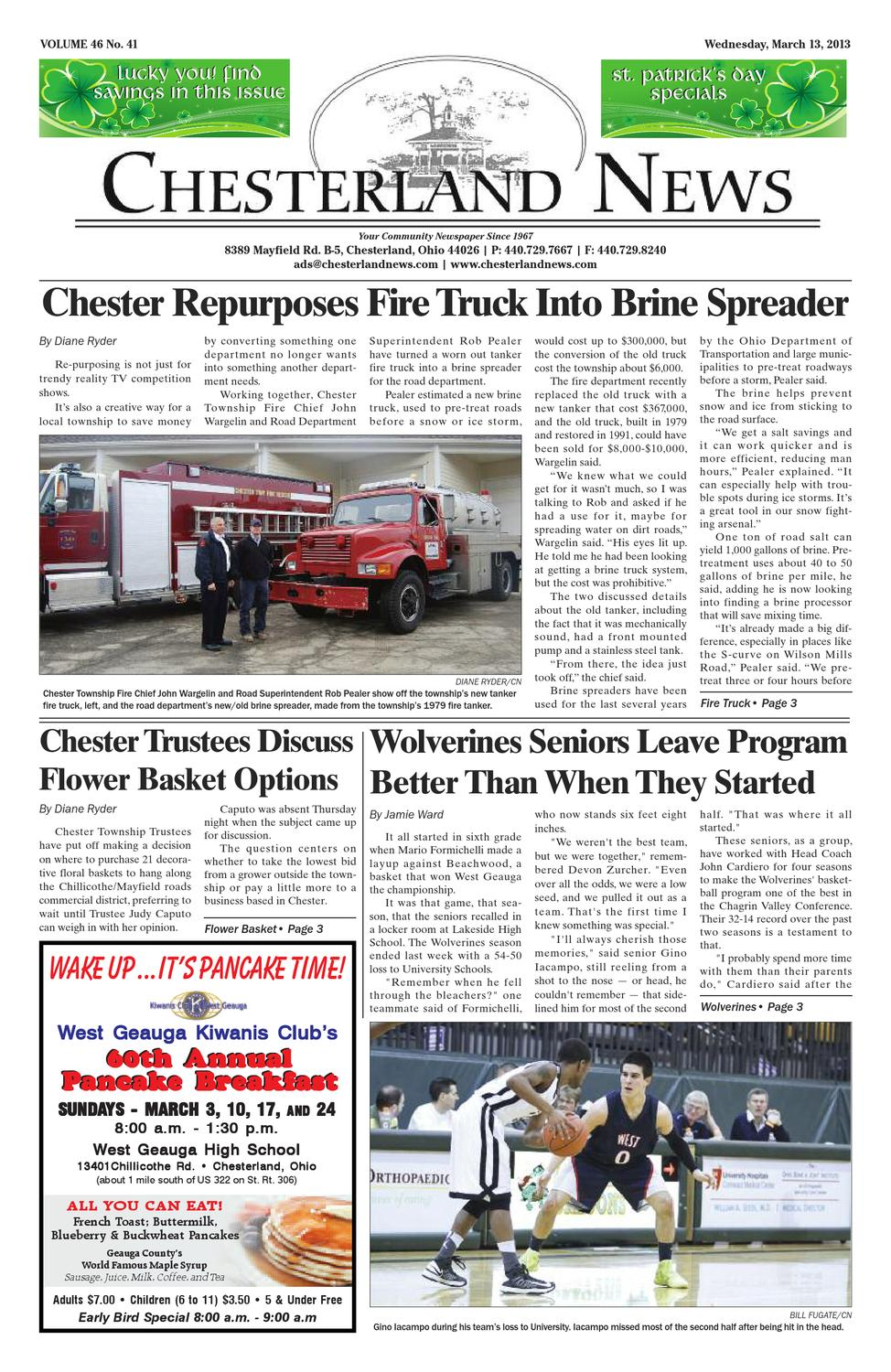 Chesterland News March 13th 2012 By Chesterland News Issuu