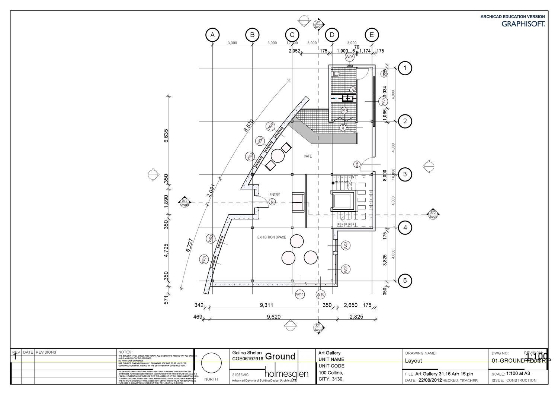 Archicad Art Gallery Ground Floor Plan By Galina Shelan Issuu