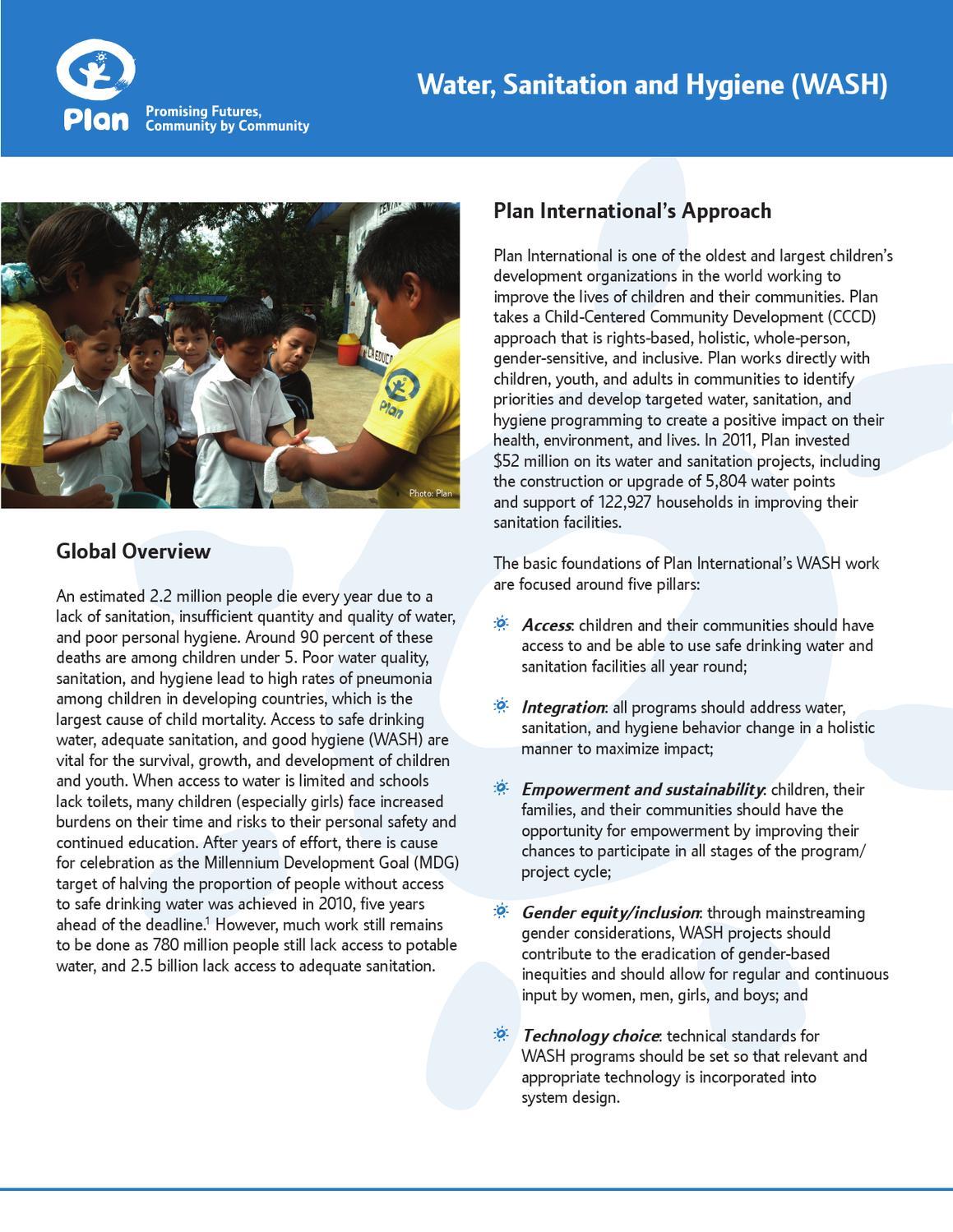 Plan's WASH Programs by Plan International USA - issuu