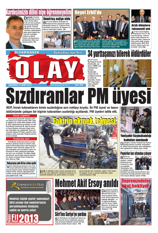 13 03 2013 Gazete Sayfalari By Diyarbakir Olaygazetesi Issuu