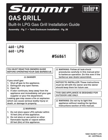 Summit Gas Grill Installation Guide by R  McDonald Weber - issuu