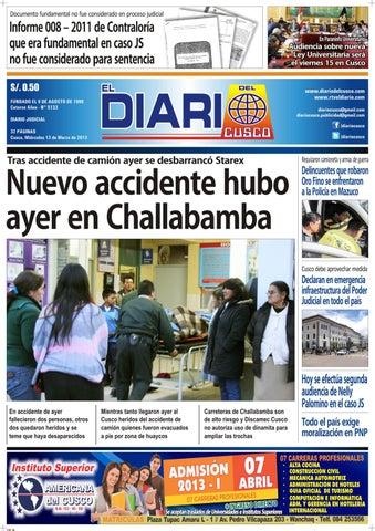 31308954475e El Diario del Cusco 130313 by El Diario del Cusco - issuu