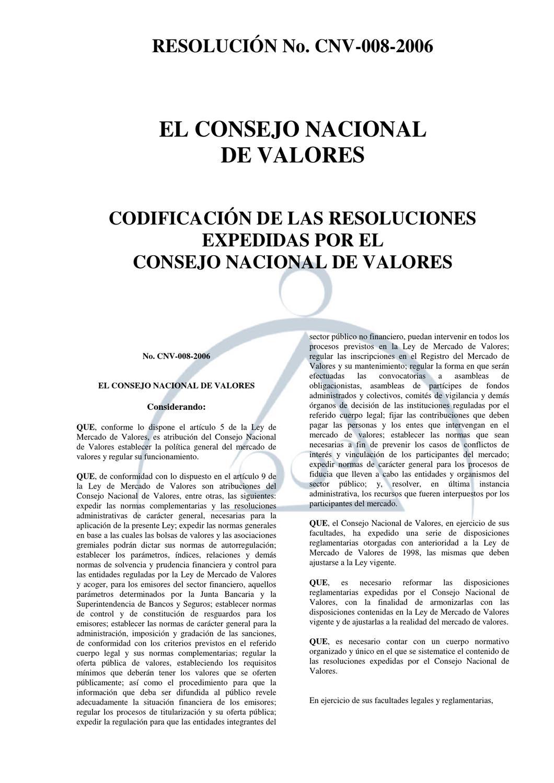 Codificacin CNV by Bolsa de Valores de Quito - issuu