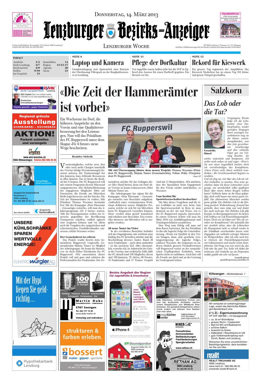 Herzlich Willkommen, Vordemwald! - Zehnder Print