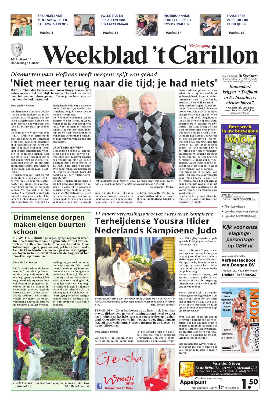 Weekblad  t Carillon 14-03-2013 by Uitgeverij Em de Jong - issuu d50e6a4931