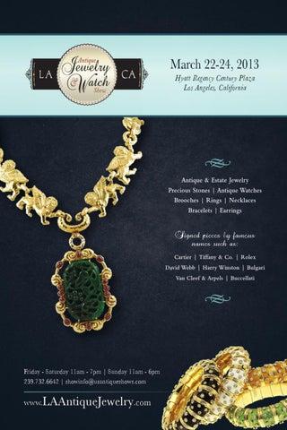 2018 La Antique Jewelry Watch Show Directory