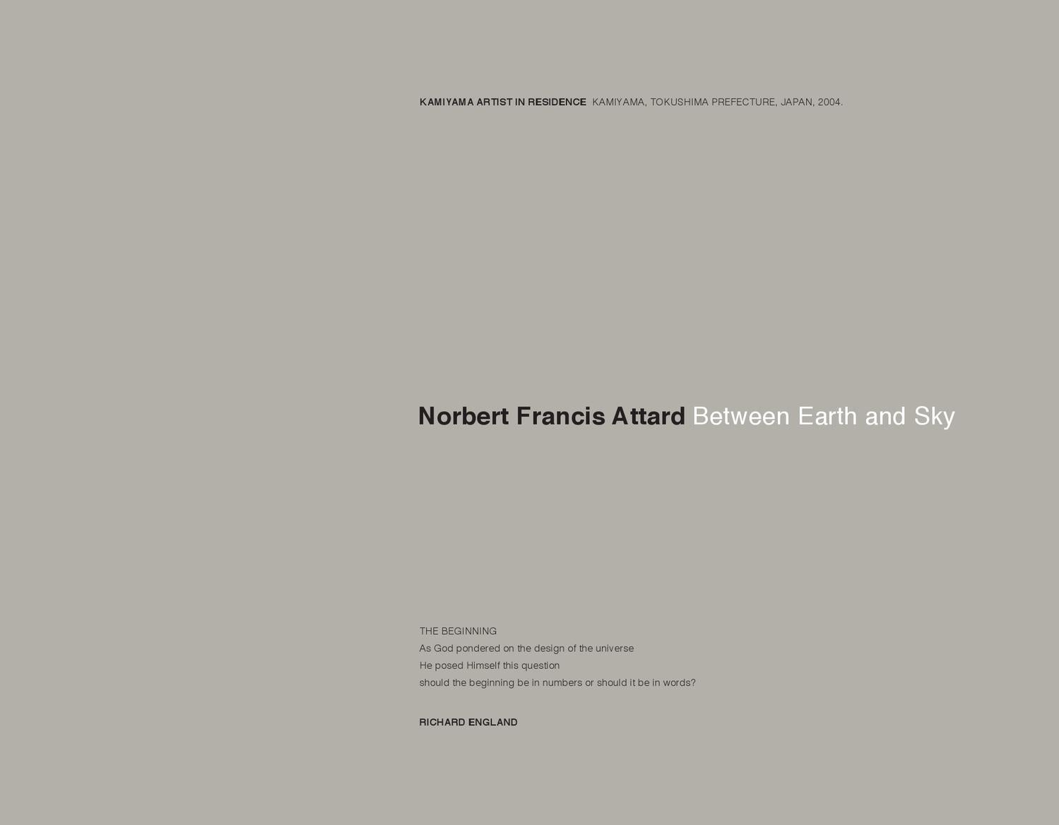 Between Earth And Sky By Norbert Francis Attard Issuu