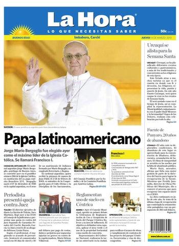 Edición impresa Norte del 14 de marzo de 2013 by Diario La Hora ... fc0eddfbc0d