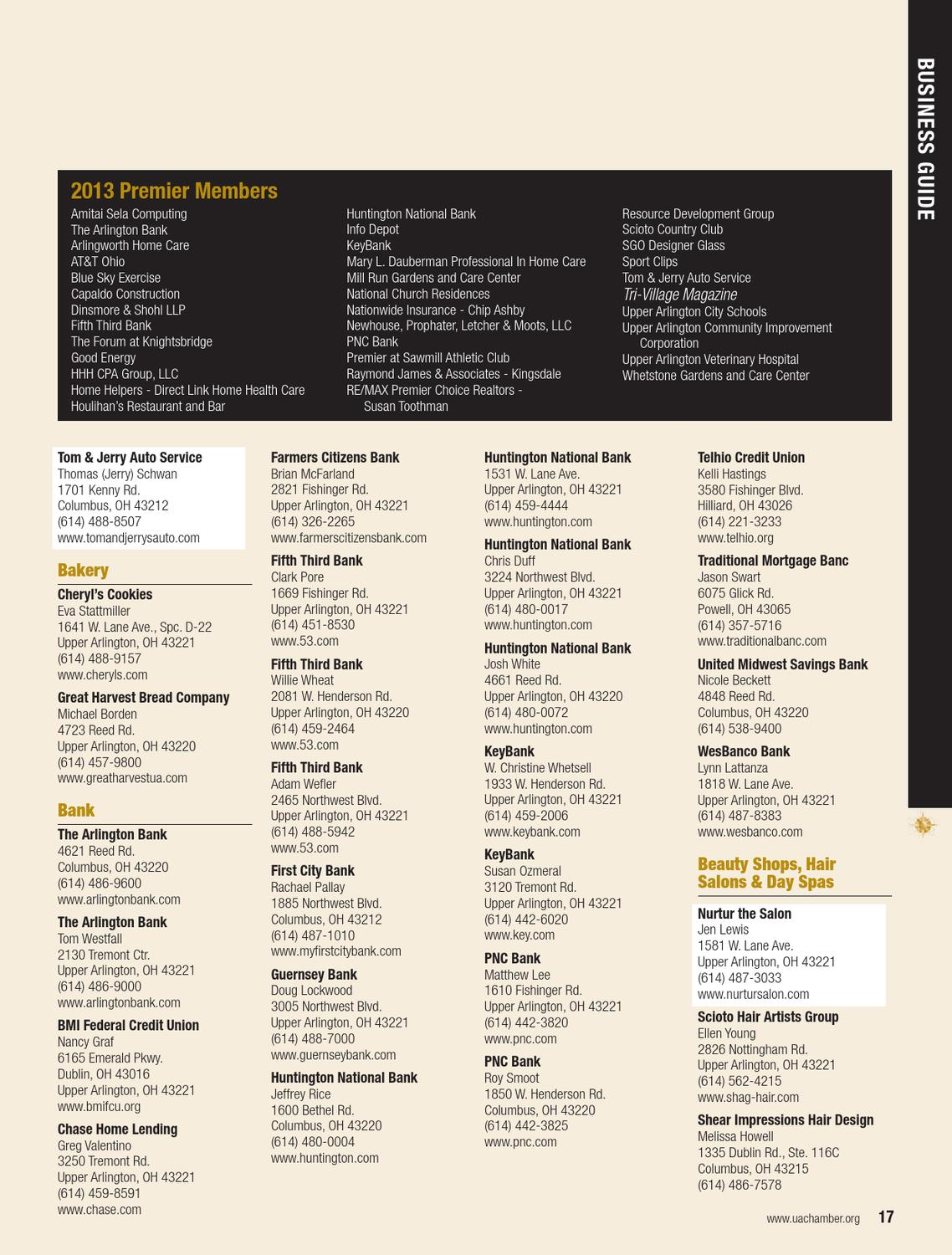 2013 Upper Arlington Area Chamber Of Commerce Directory By Cityscene