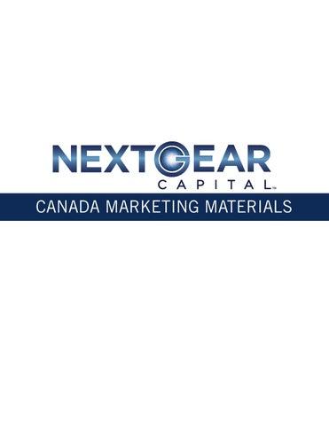 Marketing Materials Canada By Nextgear Capital Issuu