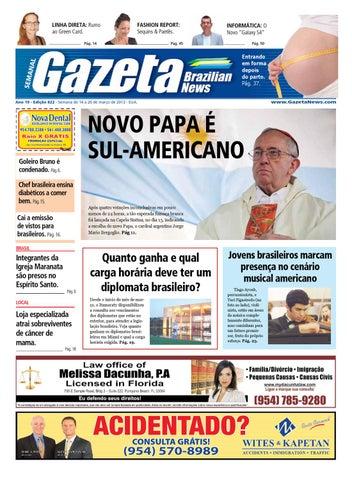 461a60cbd Edição 822 - De 14 a 20 de março de 2013. by Gazeta Brazilian News ...
