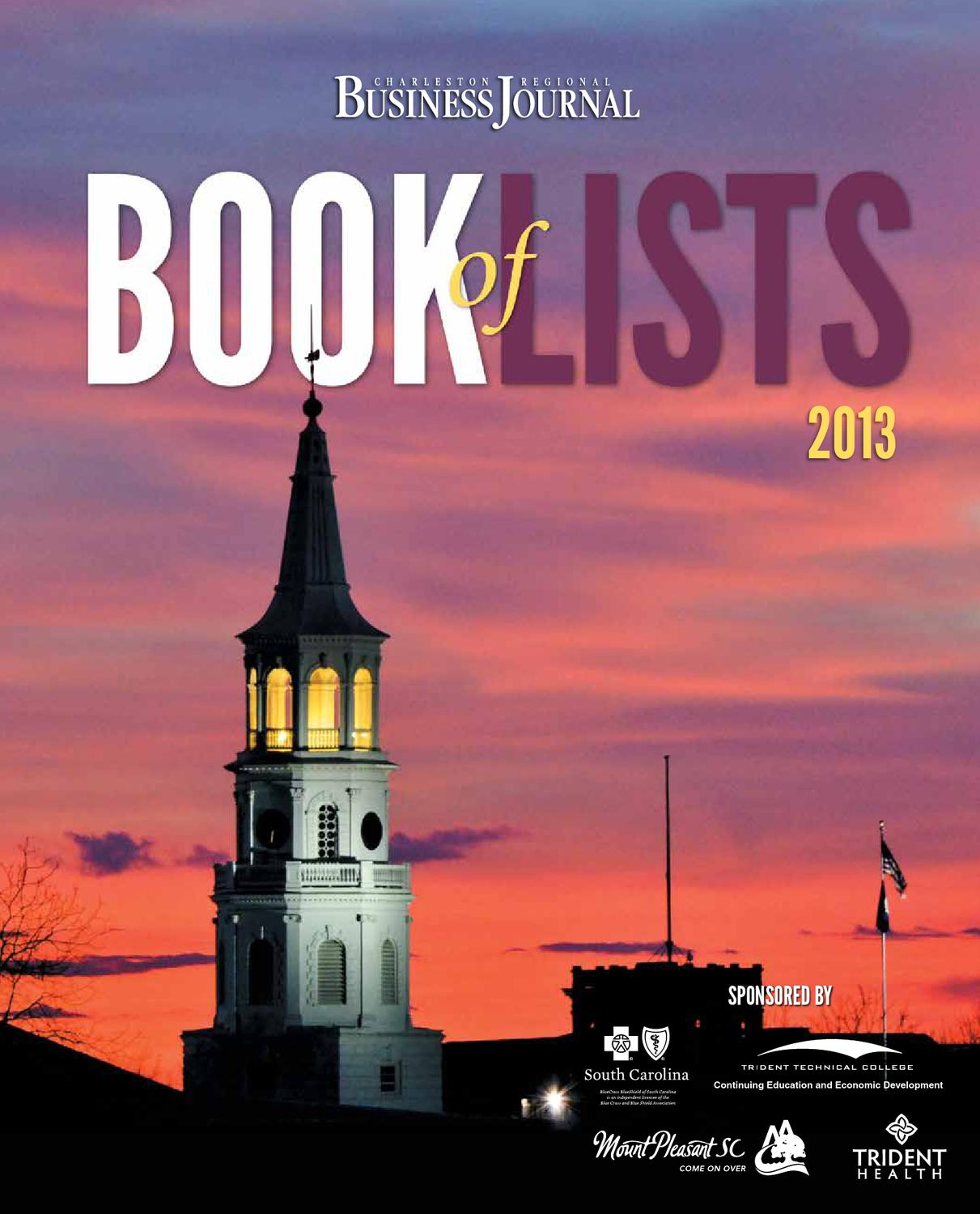 4d8c7d7aacb 2013 Charleston Book of Lists by SC BIZ News - issuu