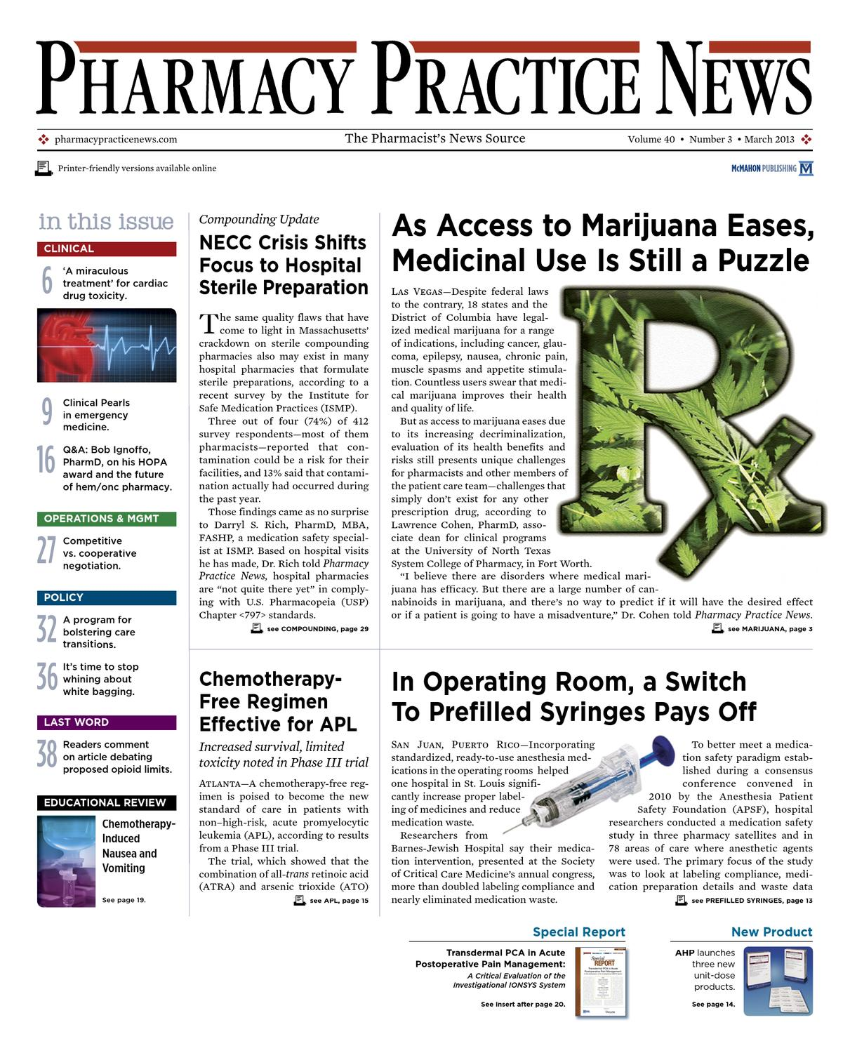 The March 2013 Digital Edition Of Pharmacy Practice News By Mcmahon Swallow Naph 300 Gr Group Issuu