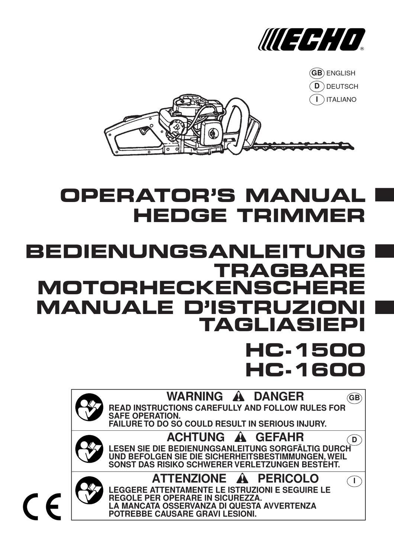 ECHO HC1500 USER MANUAL by Allpower - issuu