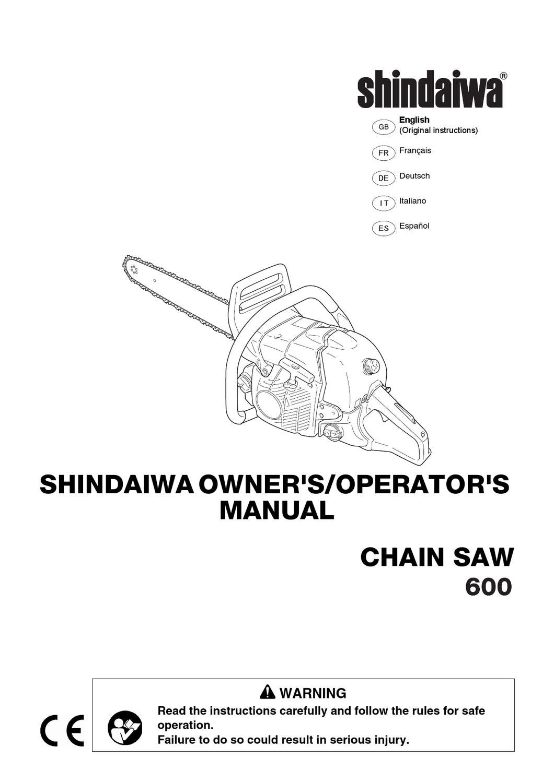 shindaiwa 600 user manual by allpower